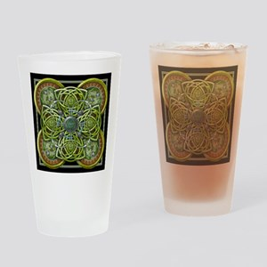 Green Celtic Tapestry Drinking Glass
