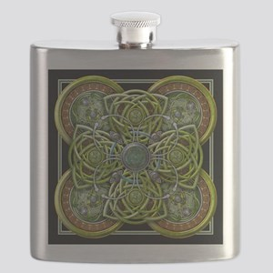 Green Celtic Tapestry Flask
