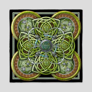 Green Celtic Tapestry Queen Duvet