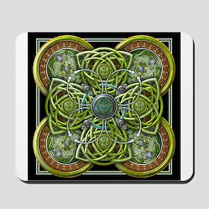 Green Celtic Tapestry Mousepad