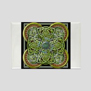 Green Celtic Tapestry Rectangle Magnet