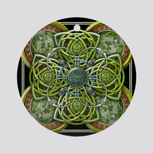 Green Celtic Tapestry Ornament (Round)