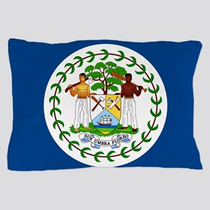Flag of Belize Pillow Case