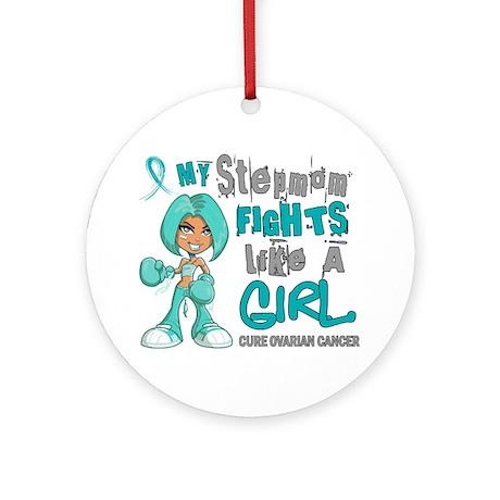 Fights Like a Girl 42.9 Ovarian Cancer Ornament (R