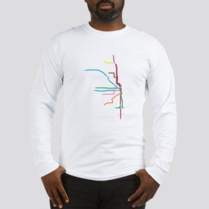 Painted Chicago El Map Long Sleeve T-Shirt