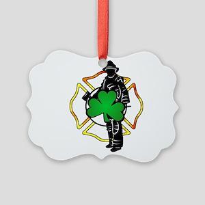 Irish Firefighter Picture Ornament