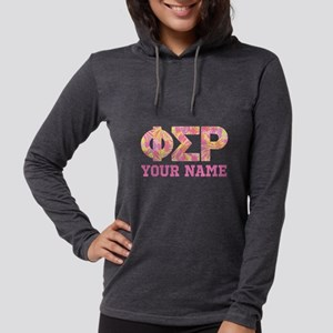Phi Sigma Rho Letters Womens Hooded Shirt