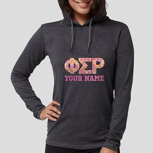 Phi Sigma Rho Letters Womens Hooded Shirt