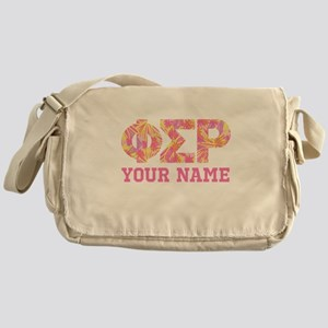 Phi Sigma Rho Letters Messenger Bag