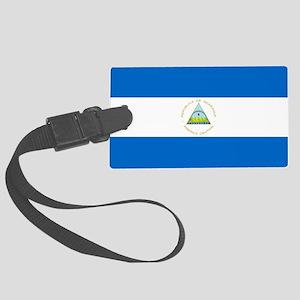 Flag of Nicaragua Large Luggage Tag