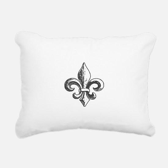 NOLA fleur de lis Saints Rectangular Canvas Pillow