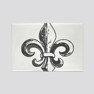 NOLA fleur de lis Saints Rectangle Magnet