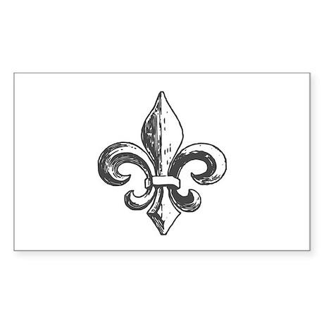 NOLA fleur de lis Saints Sticker (Rectangle)