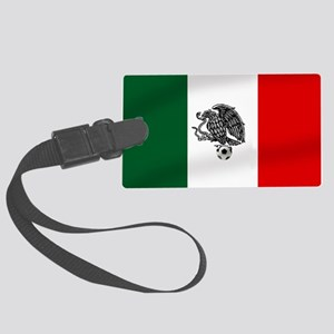 Mexican Soccer Flag Large Luggage Tag