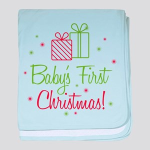 Baby's First Christmas baby blanket