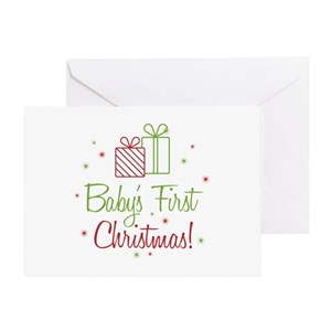 First Christmas Greeting Cards Cafepress