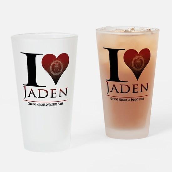 I Heart Jaden Drinking Glass