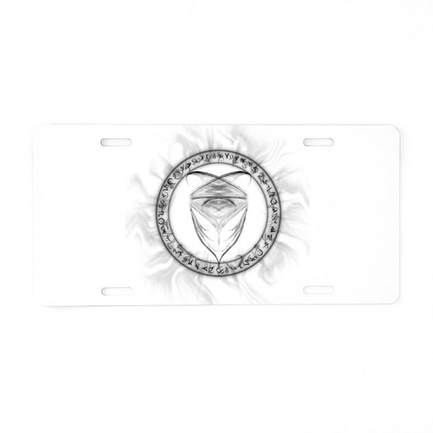 Jaden Symbol Aluminum License Plate by mydarkhunter