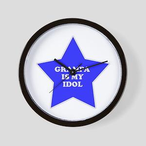 Grampa Is My Idol Wall Clock