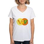 Candy Corn Venn Women's V-Neck T-Shirt