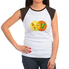 Candy Corn Venn Women's Cap Sleeve T-Shirt