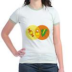 Candy Corn Venn Jr. Ringer T-Shirt