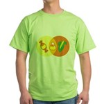 Candy Corn Venn Green T-Shirt