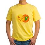 Candy Corn Venn Yellow T-Shirt