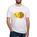 Candy Corn Venn Fitted T-Shirt