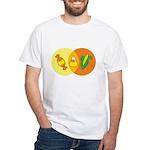 Candy Corn Venn White T-Shirt