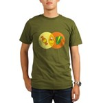Candy Corn Venn Organic Men's T-Shirt (dark)