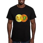 Candy Corn Venn Men's Fitted T-Shirt (dark)