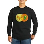 Candy Corn Venn Long Sleeve Dark T-Shirt