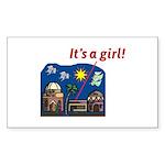 ItsAGirl Sticker (Rectangle 10 pk)