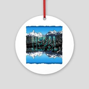 nepal mount everest art illustration Ornament (Rou