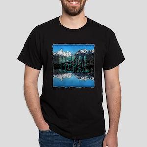 nepal mount everest art illustration Dark T-Shirt
