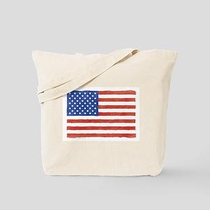 Watercolor USA Flag: Tote Bag