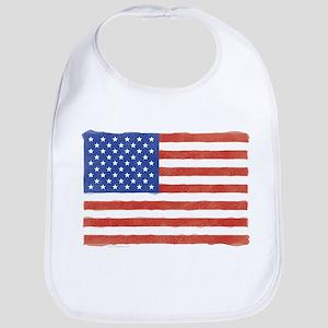 Watercolor USA Flag: Bib