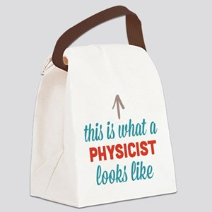 Physicist Looks Like Canvas Lunch Bag