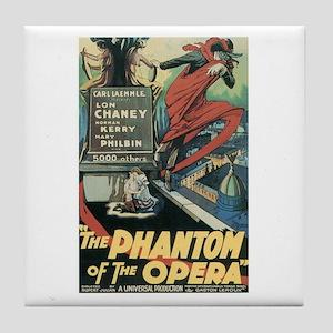 Phantom of the Opera 1925 Tile Coaster