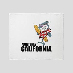 Monterey, California Throw Blanket