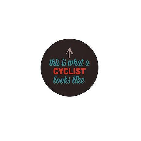 Cyclist Looks Like Mini Button (10 pack)