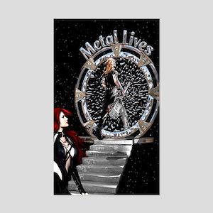 Metal Lives! Rectangle Sticker