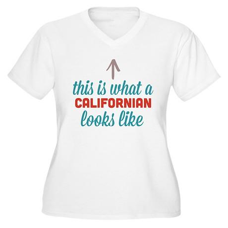 Californian Looks Like Women's Plus Size V-Neck T-