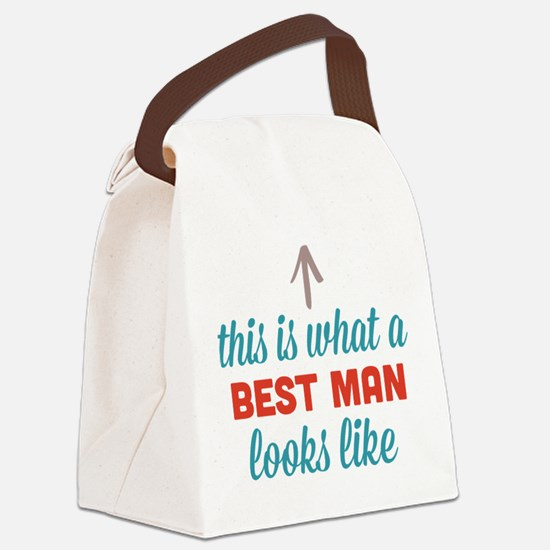 Best Man Looks Like Canvas Lunch Bag