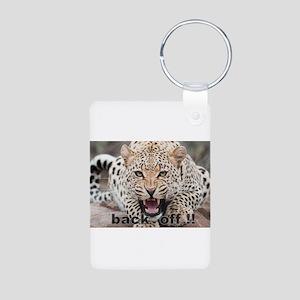 angry cheetah Aluminum Photo Keychain