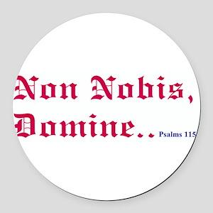 nobis600 Round Car Magnet