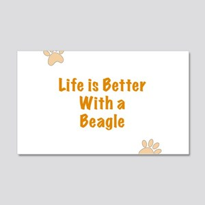 Life is better with a Beagle 20x12 Wall Decal