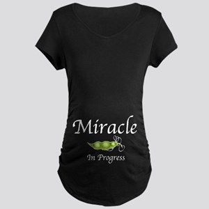 Miracle In Progress (Tummy) Maternity Dark T-Shirt