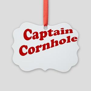 Captain Cornhole Picture Ornament